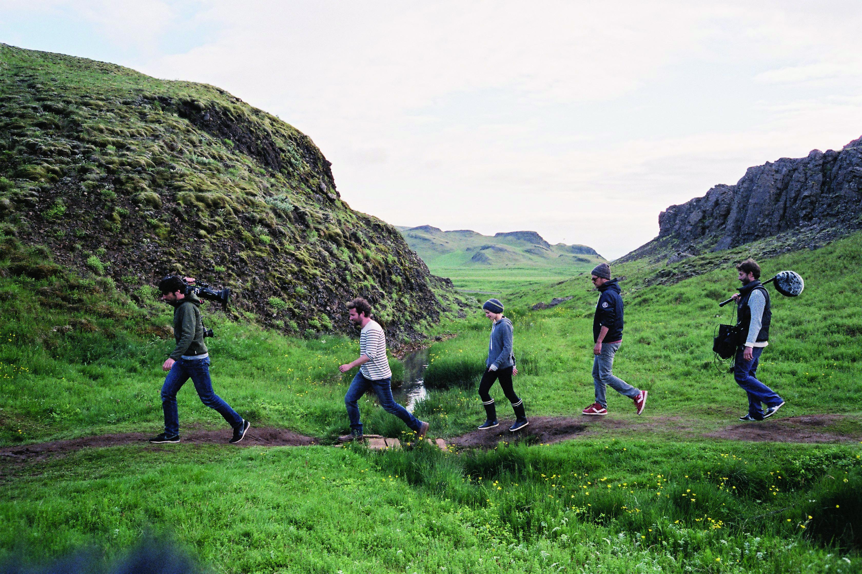 L'equipe en plein cœur de l'Islande _ photo Alexandre Leglise