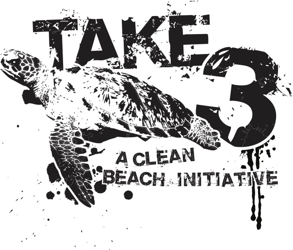 Take3 clean beach Logo