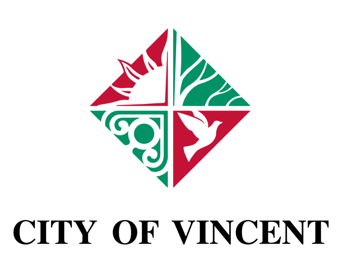 CMYK City of Vincent Logo Stacked 01 1